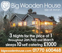 3 nights offer for the Big Wooden House
